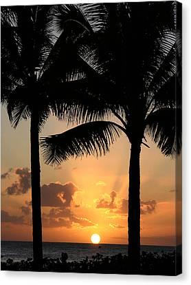 Poipu Beach Sunset Canvas Print
