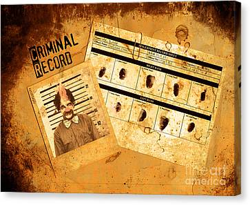 Police Criminal Record File Canvas Print