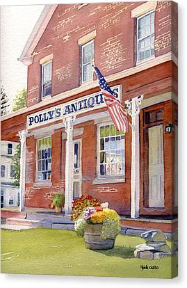 Polly's Antiques Canvas Print by Heidi Gallo
