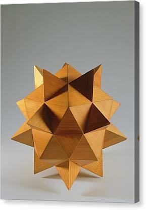 Polyhedron Wood Canvas Print by Italian School