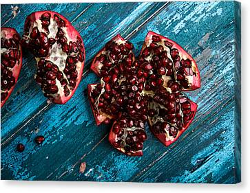 Pomegranate Canvas Print by Nailia Schwarz