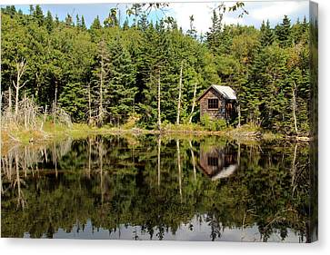 Canvas Print featuring the photograph Pond Along The At by Jemmy Archer
