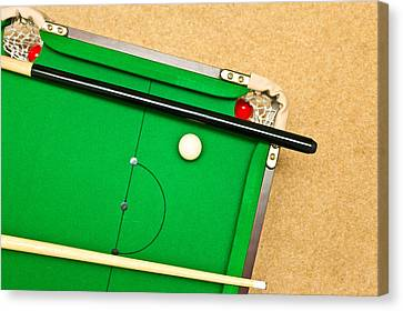Pool Table Canvas Print by Tom Gowanlock