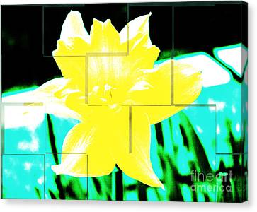 Pop Yellow Canvas Print by Arlene Carmel