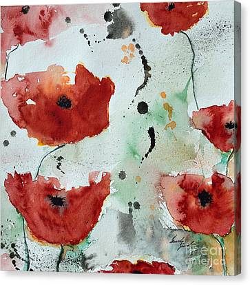 Poppies Flower- Painting Canvas Print by Ismeta Gruenwald