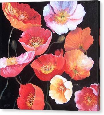 Poppies Canvas Print by Jan Matson