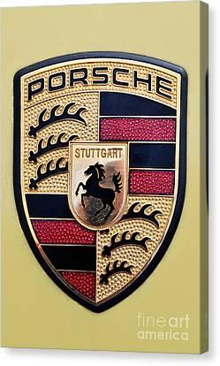 Mascot Canvas Print - Porsche Badge by George Atsametakis