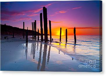 Port Willunga Sunset Canvas Print by Bill  Robinson
