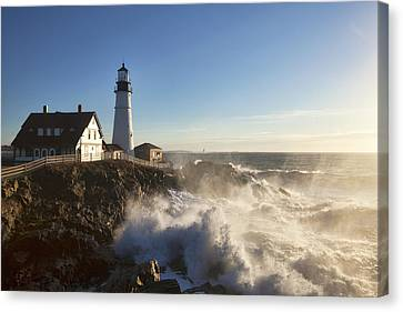 Portland Head Light Canvas Print by Eric Gendron