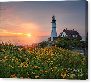 Portland Head Light Sunrise  Canvas Print