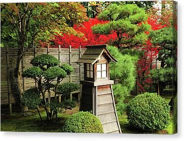 Fire Hydrants Canvas Print - Portland Japanese Garden In Autumn by Michel Hersen