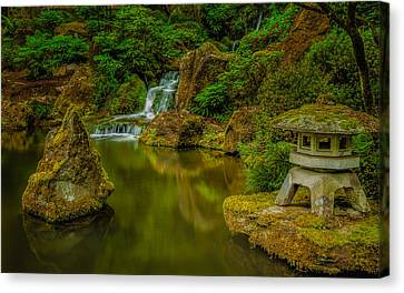 Canvas Print featuring the photograph Portland Japanese Gardens by Jacqui Boonstra
