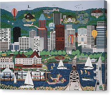 Portland Waterfront Canvas Print