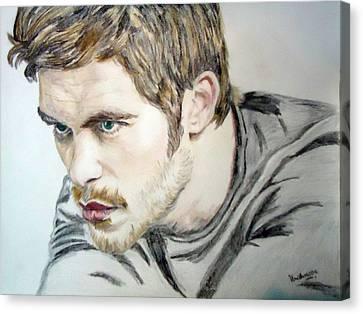 Portrait Drawing Canvas Print