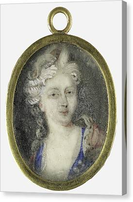 Portrait Of A Woman, Presumably Christiane Charlotte Canvas Print by Litz Collection