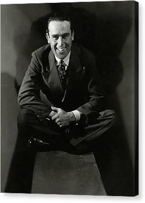 Portrait Of Actor Harold Lloyd Canvas Print by Edward Steichen