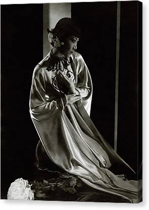 Portrait Of Anna May Wong Canvas Print by Edward Steichen