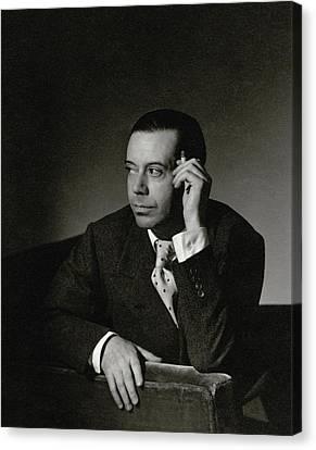 Portrait Of Cole Porter Canvas Print by Horst P. Horst