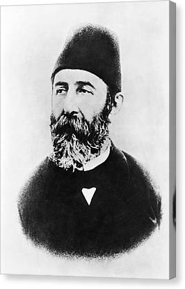 Portrait Of Djemal Pasha Canvas Print by Underwood Archives