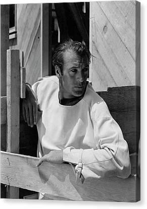 Portrait Of Gary Cooper Canvas Print