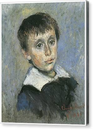 Portrait Of Jean Monet Canvas Print by Claude Monet