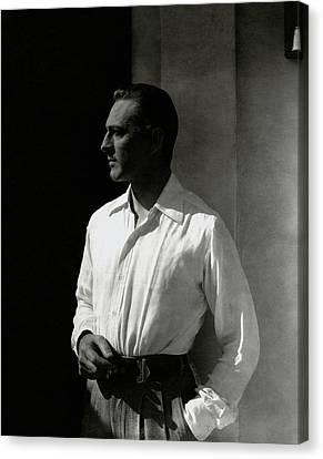 Portrait Of John Barrymore Canvas Print