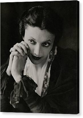Portrait Of Katharine Cornell Canvas Print by Edward Steichen