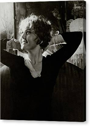 Hands Behind Head Canvas Print - Portrait Of Nancy Carroll by Cecil Beaton