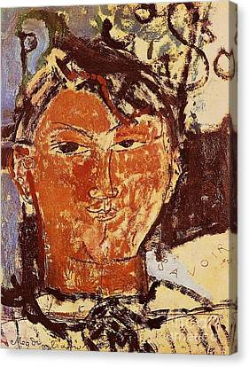 Portrait Of Picasso Canvas Print by Pg Reproductions