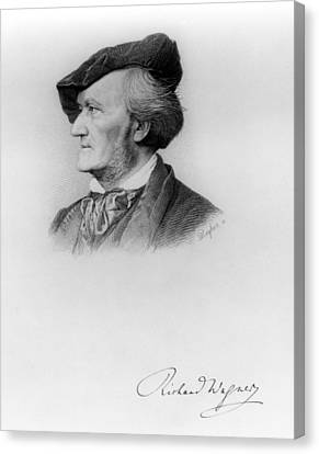 Portrait Of Richard Wagner German Canvas Print by German School