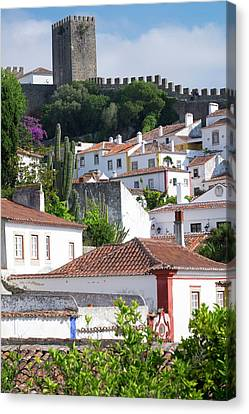 Portugal, Obidos Canvas Print by Emily Wilson