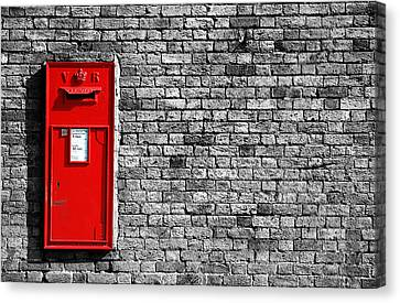 Post Box Canvas Print by Mark Rogan