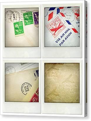 Postal Still Life Canvas Print by Les Cunliffe