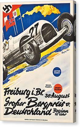 Poster Advertising The Grosser Bergpreis Grand Prix Canvas Print by German School