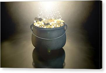 Pot Of Gold Canvas Print