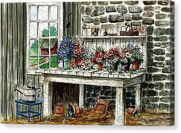 Potting Bench Canvas Print by Steven Schultz