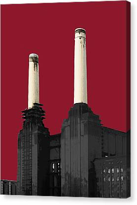 Power - Blazing Red Canvas Print by Big Fat Arts