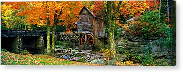 Grist Mill Canvas Print - Power Station In A Forest, Glade Creek by Panoramic Images