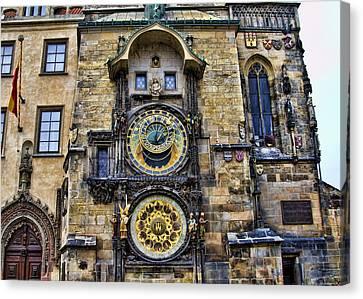 Prague - Astronomical Clock Canvas Print by Jon Berghoff