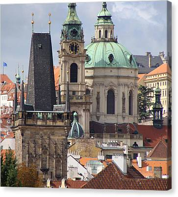 Canvas Print featuring the photograph Prague by Ira Shander