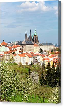 Prague - View Of Hradcany Castle Canvas Print by Panoramic Images