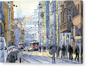 Prague Vodickova Str  Canvas Print