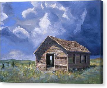 Prairie Church Canvas Print by Jerry McElroy