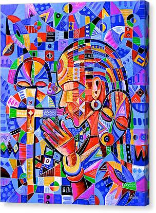 Prayer Canvas Print by Angu Walters