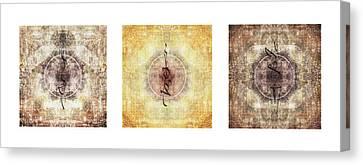 Nepal Canvas Print - Prayer Flag Triptych by Carol Leigh