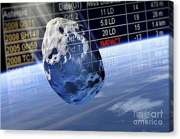 Predicting Asteroid Impact, Artwork Canvas Print by Detlev van Ravenswaay