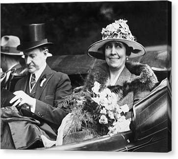 President And Mrs. Coolidge Canvas Print by Underwood Archives