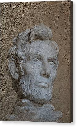 President Lincoln Canvas Print by Skip Willits