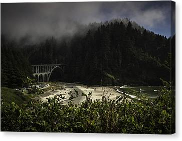 Pretty Trail Up To The Light Canvas Print by Jean-Jacques Thebault