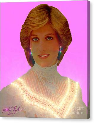 Princess Diana Canvas Print by Michael Rucker